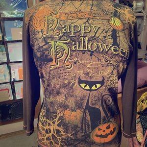 Halloween long sleeve top size xl